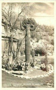 Cactus Garden Flying V Ranch Tucson Arizona 1930s Frasher Photo Postcard 9792