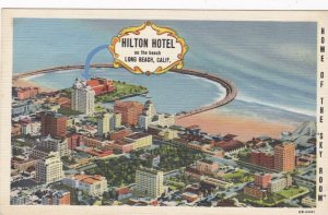 California Long Beach Hilton Hotel Curteich sk3493