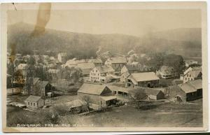 Bingham ME Birds Eye View From Old Mill RPPC Real Photo Postcard