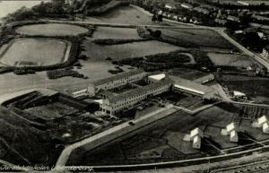 denmark, SØNDERBORG, Idrætshøjskolen (1954) Stadium Postcard