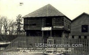 Real Photo Fort Halifax, 1754 in Winslow, Maine