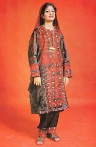 Bluchistan Pakistan Pakistani Fashion Dress 1970s Photo Postcard