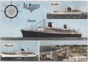 Le Havre-Porte Oceane, Antilles, France, Flandre, used Postcard