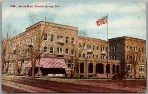 1910s Colorado Springs Postcard ACACIA HOTEL Building / Street View - Unused
