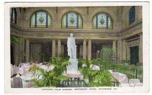 Richmond, VA, Japanese Palm Garden, Jefferson Hotel