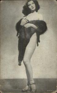 Sexy Burlesque Showgirl Semi-Nude Arcade Exhibit Card - B&W #10