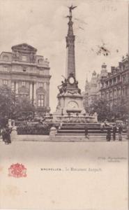 Belgium Brussells Le Monument Anspach 1906