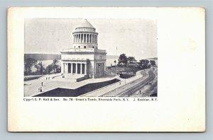 New York City NY, Grant's Tomb Riverside Park NYC Vintage c1905 Postcard
