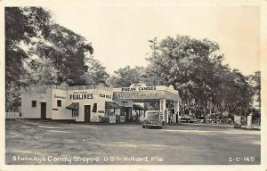 Hilliard FL Stuckey's Candy Shoppe Gas Station Old Car Real Photo Postcard