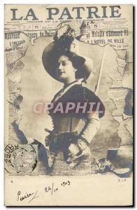Old Postcard Fantasy Theater La Patrie