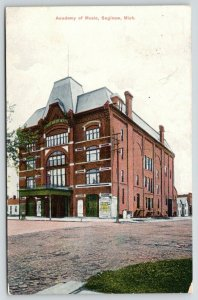 Saginaw Michigan~Academy of Music~The District Leader Poster~Lady on Corner~1911