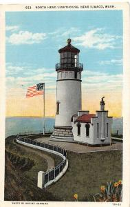 F35/ Ilwaco Washington Postcard c1910 North Head Lighthouse