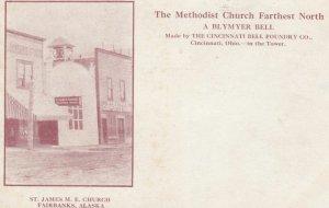 FAIRBANKS, Alaska, 1900-10s; St. James M.E. Church, A Blymer Bell in the Tower