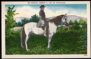 4320) Pennsylvania Gettysburg General Robert E. Lee on Traveller - LINEN