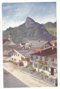 Dorfansicht mit Kofel, Oberammergau, Bavaria, Germany, 10-20s