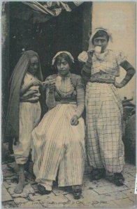 80346  -  TUNISIA  - VINTAGE POSTCARD   -   ETHNIC:  Drinking Coffee 1910