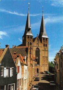 Netherlands Deventer Bergkerk Church, Street Cars Voitures