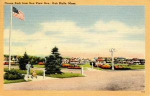 MA - Martha's Vineyard Island. Oak Bluffs. Ocean Park from Sea View Avenue
