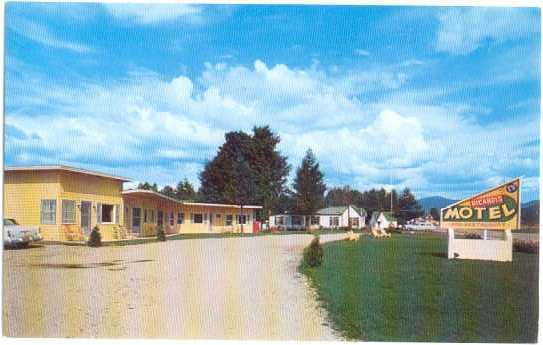 Ricardi's Motel and Cottages, Twin Mt, New Hampshire, NH, Chrome