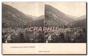 Stereoscopic Card - General view of Luz taking Solferino - Old Postcard