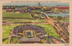 Pennsylvania Philadelphia Aerial View Of Municipal Stadium And Nauy Yard