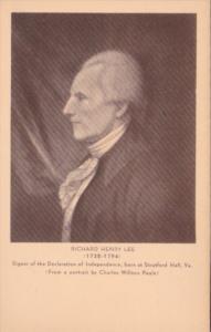 Richard Henry Lee Signer Of The Declaration Of Independence Artvue