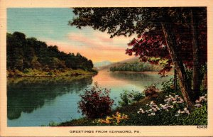 Pennsylvania Greetings From Edinboro 1942