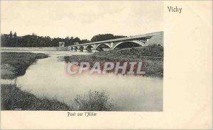 Postcard Old Bridge Vichy Allier (map 1900)
