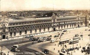 RPPC Palacio Nacional, Mexico D.F. Mexico City 1945 Vintage Postcard