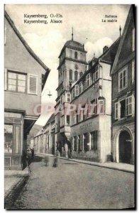 Old Postcard Kaysersberg Els Alsace City Hall