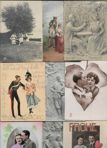 Artist Signed - Romantic Couples Lot of 20 Postcards 01.08