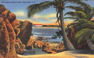 Escambron Beach Club, San Juan, Puerto Rico, Early Postcard
