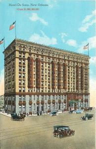 New Orleans~$1,000,000 Hotel De Soto~Vintage Autos~Horse Buggy~1915 Artist PC