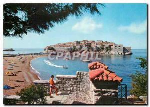 Postcard Modern Sveti Stefan