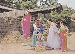 Korean Traditional Customs Seasaw, Korea, 1950-1970s