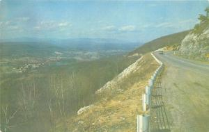 Ellenville New York~Shawanguent Trail into Town~Beautiful View~1950s Postcard