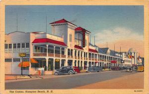 The Casino, Hampton Beach, New Hampshire, Early Postcard, Used in 1940
