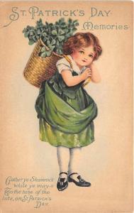 Saint Patrick's Day, Ellen H Clapsaddle Holiday Writing on back