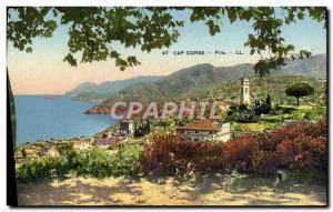 Old Postcard Cap Corse Pino
