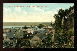 dc614 - ST ALPHONSE Quebec c1908-10 Ha Ha Bay Postcard