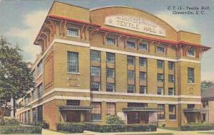 Exterior, Textile Hall, Greenville, South Carolina, 30-40s