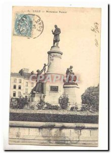 Lille Pasteur Old Postcard Monument