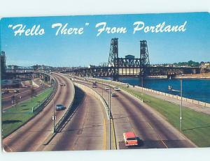Unused Pre-1980 PANORAMIC VIEW Portland Oregon OR H9836