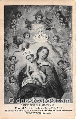 Religion Postcard Montevago Maria SS Delle Grazie