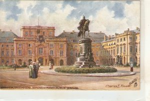 Mannheim. Das Grossherzogl. Scchloss. Horse statue.   Tuck German PC # 637