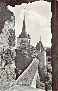 MURTEN MORAT SWITZERLAND~TERM der DEUTSCHEN KIRCHE~1961 PHOTO POSTCARD