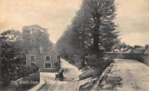Chichester City Walls from E Postcard