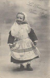 LA BRETAGNE , France, 1900-10s ; Local girl