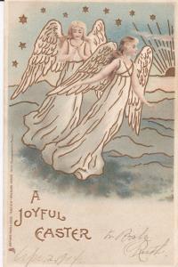 EASTER; Joyful, Angels, Gold detail, PU-1904 ; TUCK