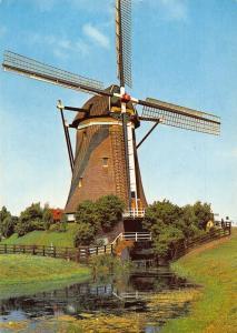 Netherlands Leidschendam Ondermolen Undermill Stepwise Drainage Mill Postcard